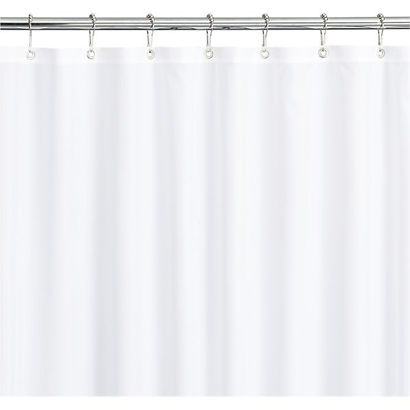 White Shower Curtain Liner Crate And Barrel