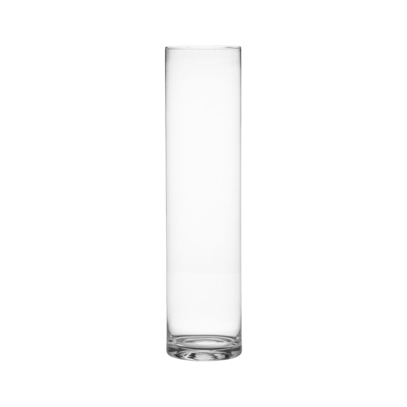 Handmade cylinder vase with simple lines let flowers take center stage.<br /><br /><NEWTAG/><ul><li>Handmade glass</li><li>Cut and flame-melted rim</li><li>Watertight</li><li>Dishwasher-safe</li><li>Made in Poland</li></ul>