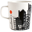 "Black and White Mug. 8 oz.; 3""dia.x3.5""H"