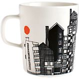 Marimekko Siirtolapuutarha Black and White Mug