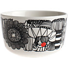 "Black and White Bowl. 8 oz; 3.75""dia.x2.25""H"