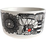 Marimekko Siirtolapuutarha Black and White 3.75&quot; Bowl