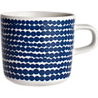 "Blue and White Cup. 7 oz.; 3""dia.x3""H"