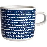 Marimekko Siirtolapuutarha Rsymatto Blue and White Cup