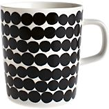 Marimekko Siirtolapuutarha Rsymatto Black and White Mug