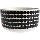 "Black and White Bowl. 17 oz.; 5""dia.x2.7""H"