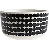 Marimekko Siirtolapuutarha Rsymatto Black and White 5&quot; Bowl