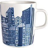 Marimekko Siirtolapuutarha Blue and White Mug