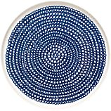 Marimekko Siirtolapuutarha Blue and White 8&quot; Plate