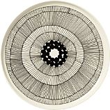 Marimekko Siirtolapuutarha Black and White 10&quot; Plate