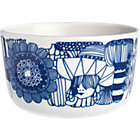 "Blue and White Bowl. 8 oz; 3.75""dia.x2.25""H"