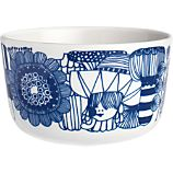 Marimekko Siirtolapuutarha Blue and White 3.75&quot; Bowl