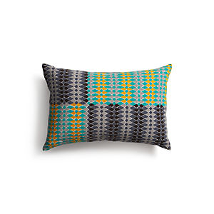 "Sikina 18""x12"" Pillow with Feather-Down Insert"