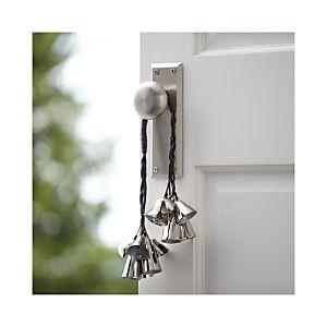 Silver Bell Door Swag