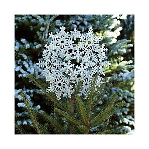 Silver Glitter Multi Snowflake Tree Topper