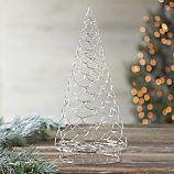 Silver Garland Ornament Tree