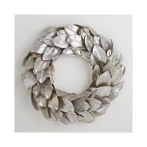 Silver Magnolia Wreath