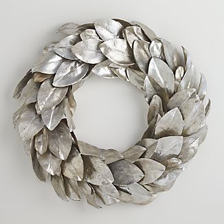 Silver Magnolia Wreath