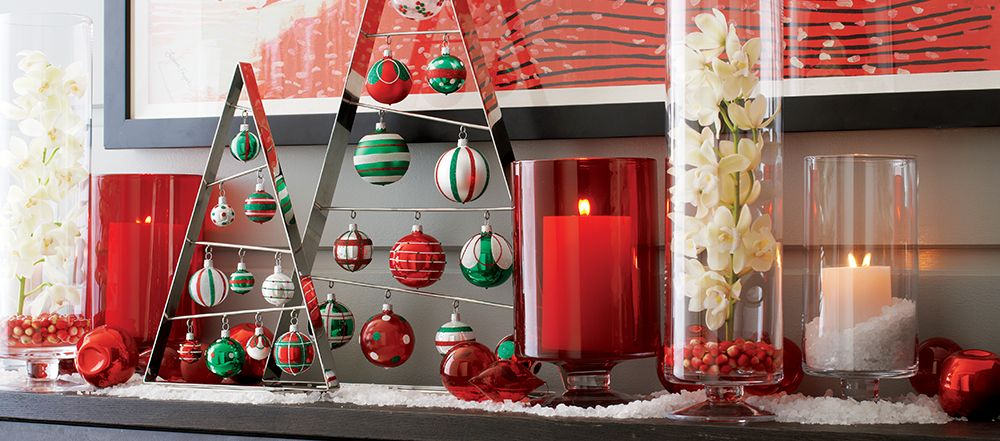 Holiday Mantel Decorating Ideas Crate And Barrel Crate