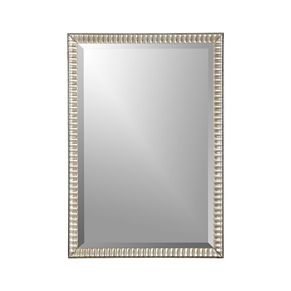 Silver Ripple Rectangular Wall Mirror