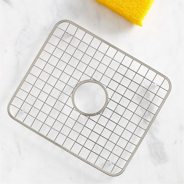 Sink Grids For Stainless Steel Sinks : Stainless Steel Sink Grid with Hole Crate and Barrel