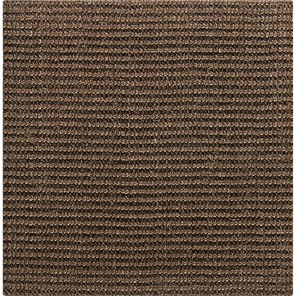 "Sisal Chocolate 12"" sq. Swatch"