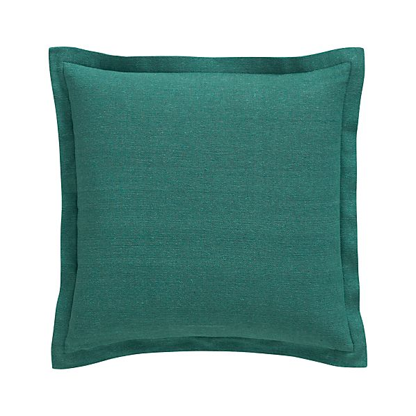 "Skylar Teal 18"" Pillow with Feather-Down Insert"