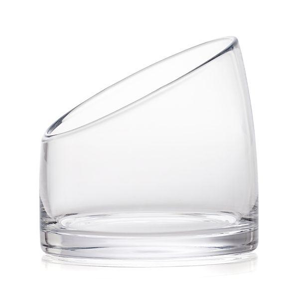 Large Glass Vessel : Slant Large Glass Vessel Crate and Barrel