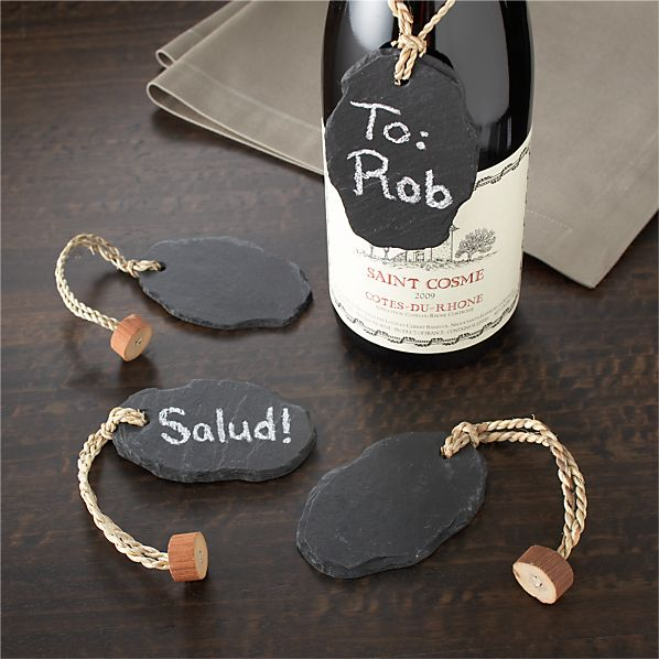 Slate Bottle Tags Set of Four