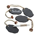 Set of 4 Slate Bottle Tags