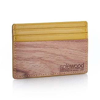 Slim Mustard Card Wallet