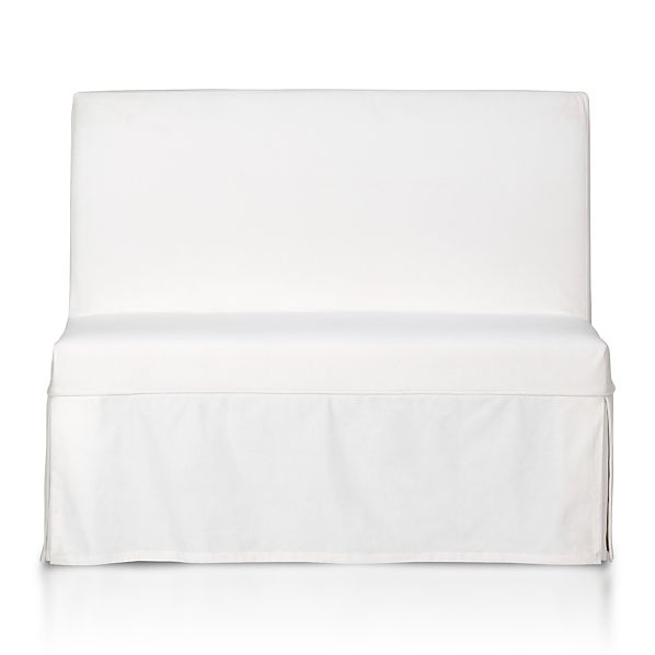 Slip Bench with White Slipcover