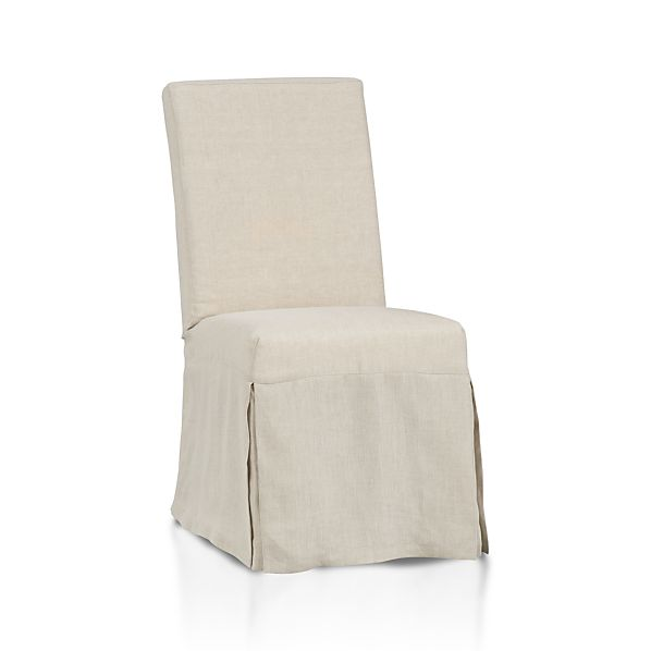 Linen Dining Chair Slip Covers Side With Slipcover Crate And Barrel
