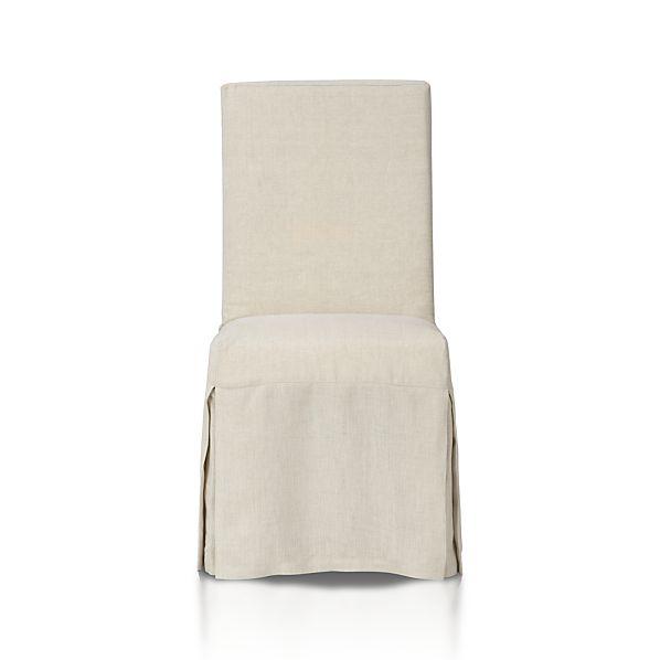 Slip Side Chair with Linen Slipcover