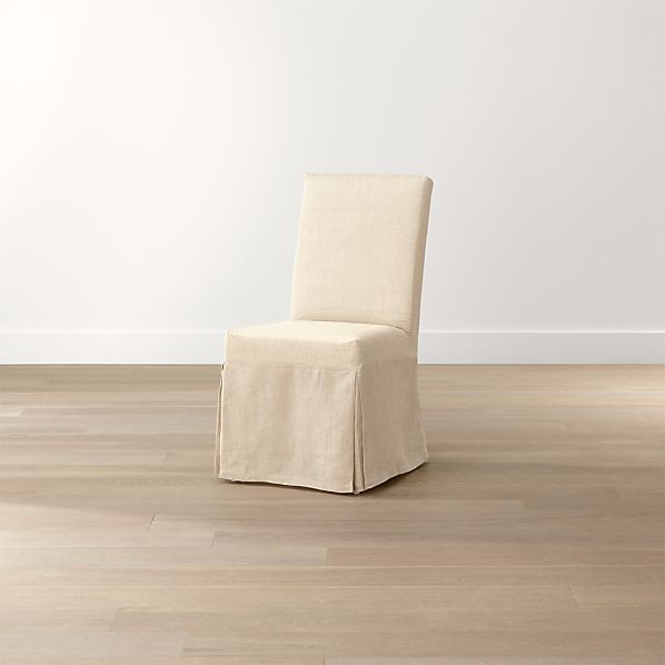 Slip Side Chair with Linen Slipcover
