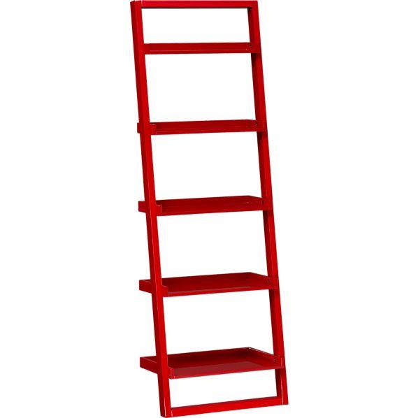 "Sloane Crimson 25.5"" Leaning Bookcase"