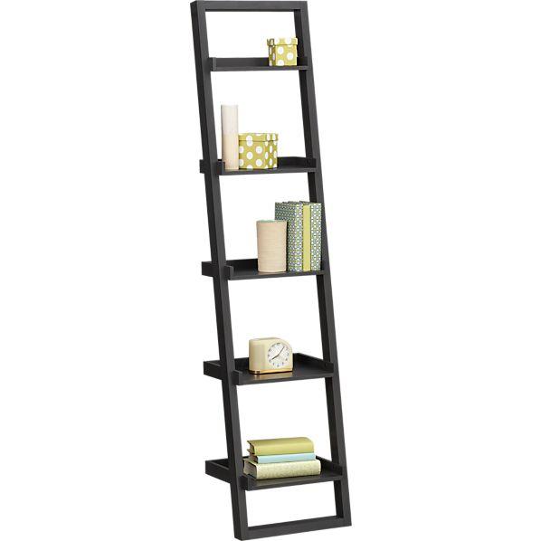 """Sloane Grey 18"""" Leaning Bookcase"""
