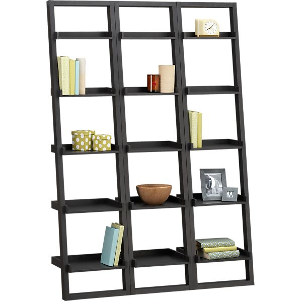 "Sloane Grey 18"" Leaning Bookcase Set of Three"