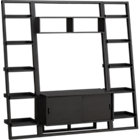 Sloane Grey 43.75&amp;quot; Leaning Media Stand with Two 18&amp;quot; Bookcases.