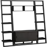 Sloane Grey 43.75&quot; Leaning Media Stand with 2 18&quot; Bookcases