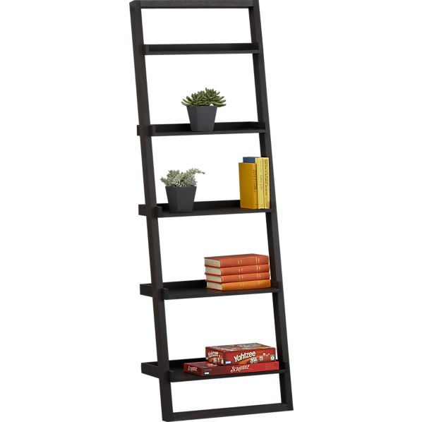 Sloane Leaning Bookcase Crate Barrel Crate And Barrel Leaning