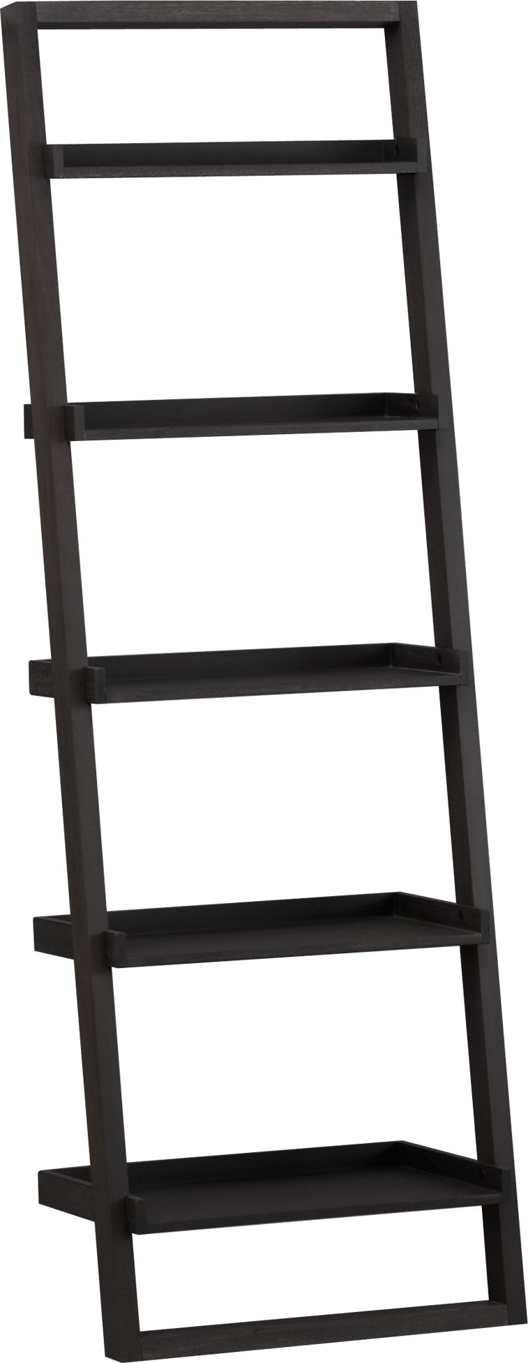 """Sloane Grey 25"""" Leaning Bookcase"""
