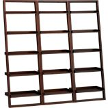 Sloane Java 25.5&quot; Leaning Bookcase Set of Three
