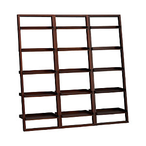 "Sloane Java 25.5"" Leaning Bookcase Set of Three"