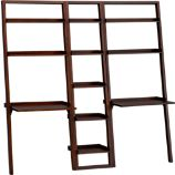 Sloane Java 18&quot; Leaning Bookcase with 2 Desks