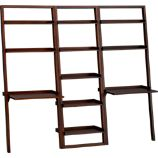 Sloane Java 25.5&quot; Leaning Bookcase with 2 Desks