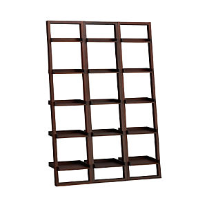 "Sloane Java 18"" Leaning Bookcase Set of Three"