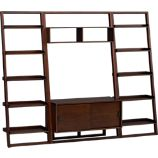 Sloane Java 43.75&quot; Leaning Media Stand with Two 25.5&quot; Bookcases