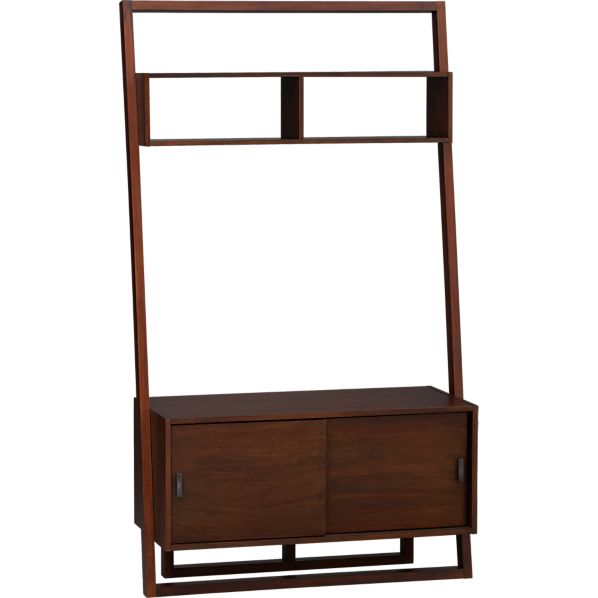 "Sloane Java 43.75"" Leaning Media Stand 