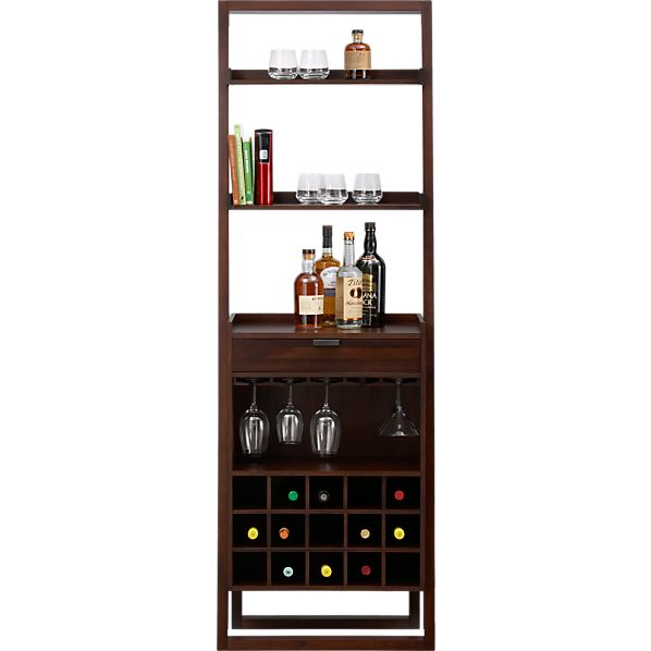 Bar cabinets and bar carts crate and barrel - Wine cabinets for small spaces set ...